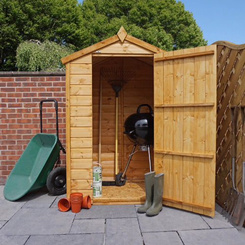 Mercia 3x4 - Shiplap Apex Shed - Windowless - GardenPromos