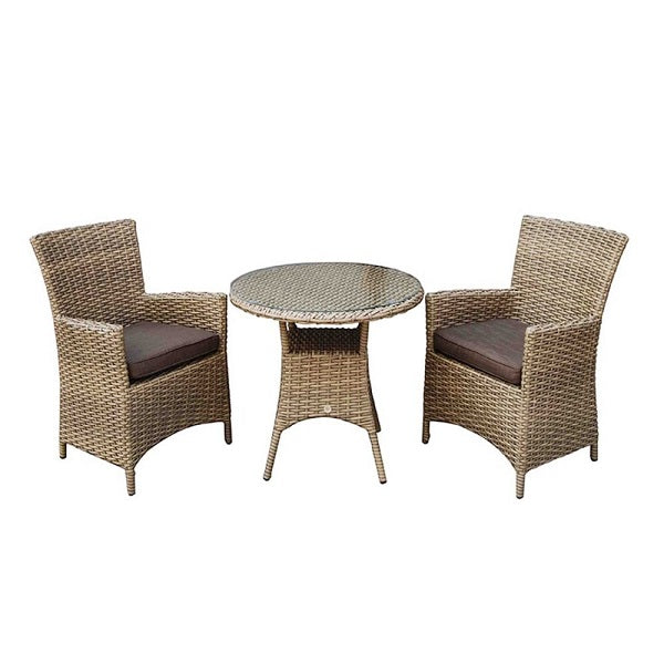 Signature Weave Darcey 2-Seat Bistro Dining Set - GardenPromos