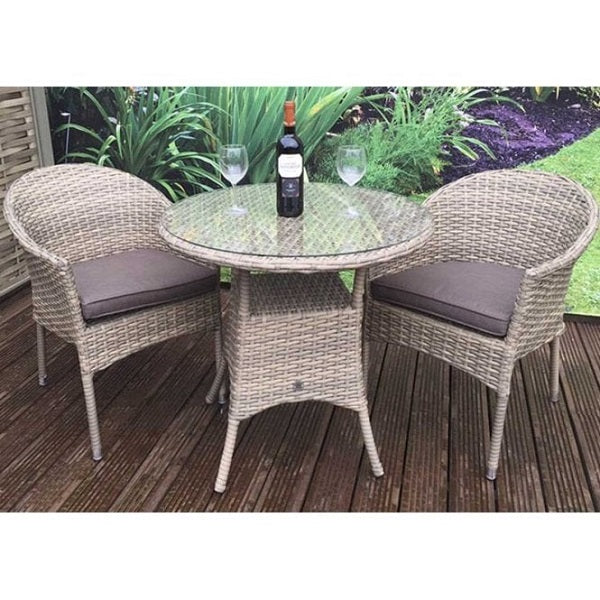Signature Weave Darcey Bistro Set With Stacking Chair
