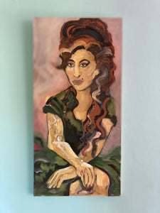 portrait of late jazz singer amy winehouse