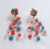 Gabrielle Earrings - Pink/Blue