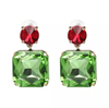Alana Earrings - Green/Red