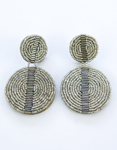 Elena Earrings - Silver