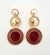 Lorraine Earrings - Burgundy