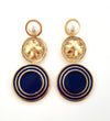 Lorraine Earrings - Navy
