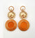 Lorraine Earrings - Orange