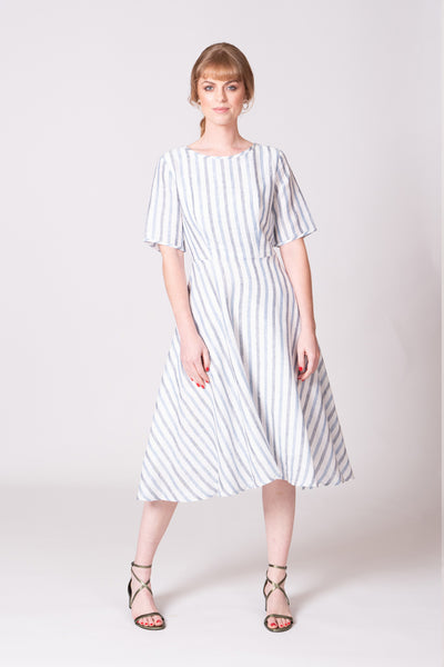 Rio Dress - Blue/White Stripe