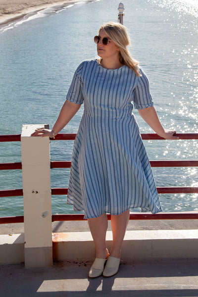 Rio Dress - Blue Stripe