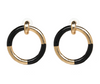 Emery Earrings - Black/Gold