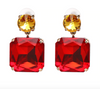 Alana Earrings - Red/Yellow