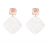 Rebecca Earrings - White