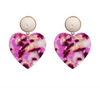 Sloane Earrings - Magenta
