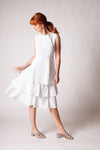 Carmen Dress - White/Navy