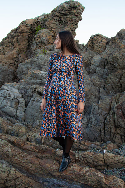 Rosa Dress - Abstract Print