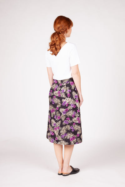 Soho Skirt - Purple Floral