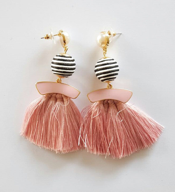 Bella Earrings - Pink