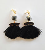 Bella Earrings - Black