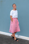 Chrysanthemum Skirt - Raspberry