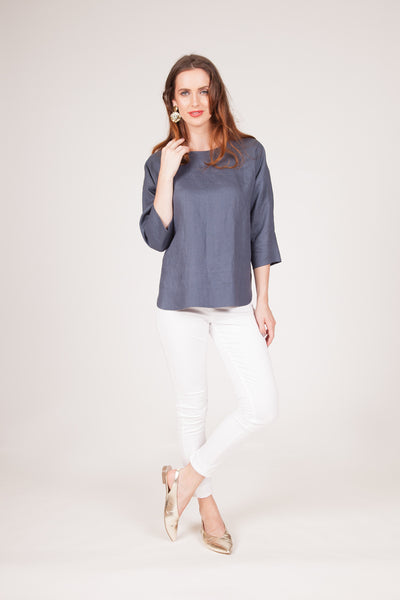 Freesia Top - Steel