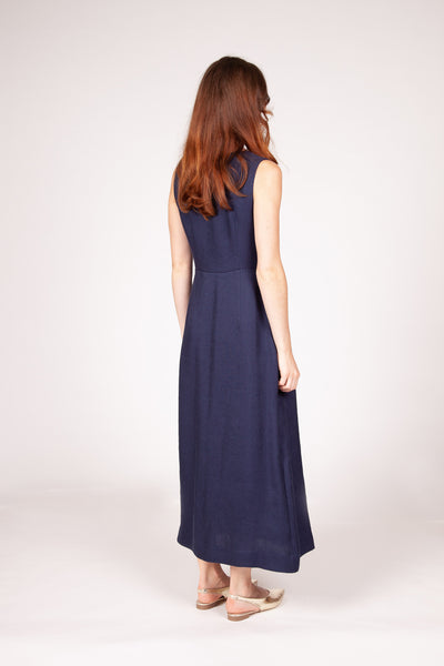Golden Dress - Navy
