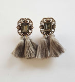 Zoe Earrings - Grey