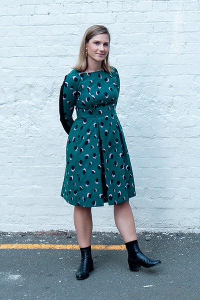 Issa Dress - Green/Black
