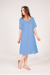 Marigold Dress - Blue