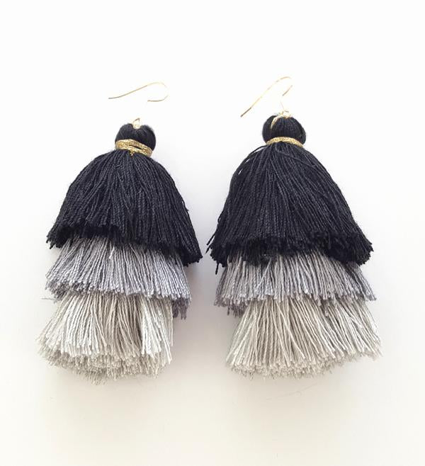 Rachel Earrings - Black/Grey