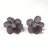 Flower Earrings - Deep Purple