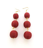 Sally Earrings - Red