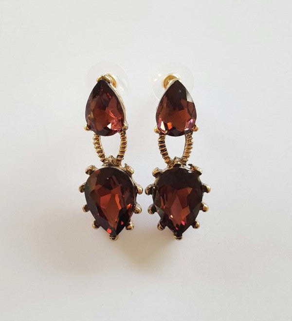 Adrianna Earrings - Red