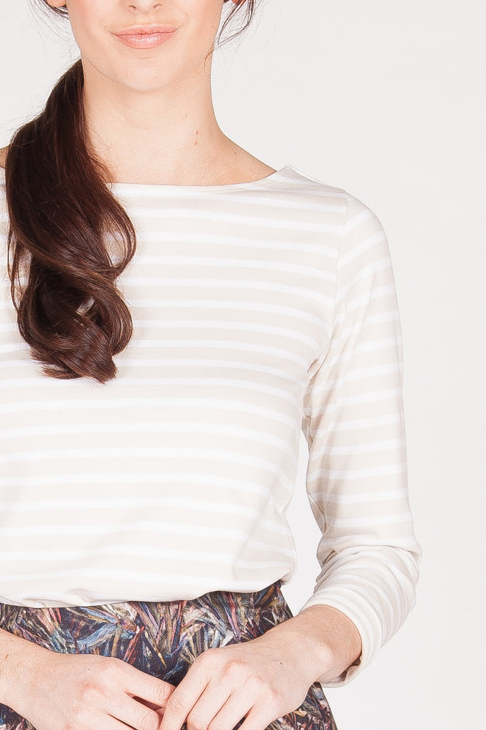 Gabrielle Top - White/Cream