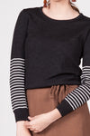 Stripe Jumper - Charcoal