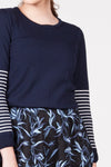 Stripe Jumper - Navy