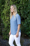 Saskia Top - Blue Spot