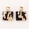 Gemma Earrings - Black/White