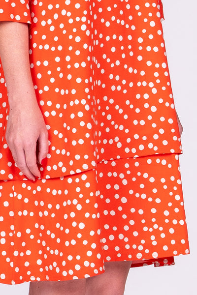 Mary Dress - Orange Spot