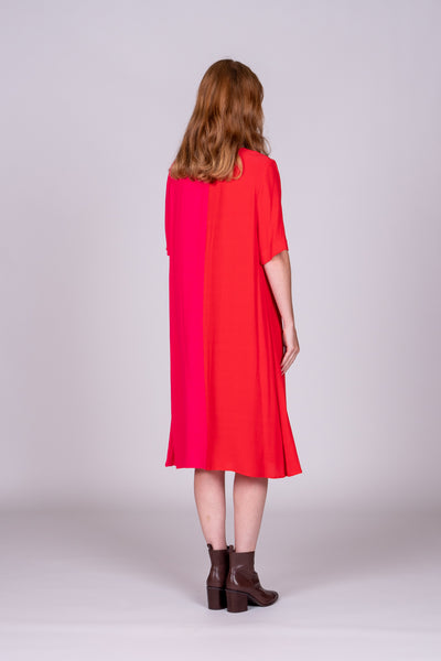 Hazel Dress - Pink/Red