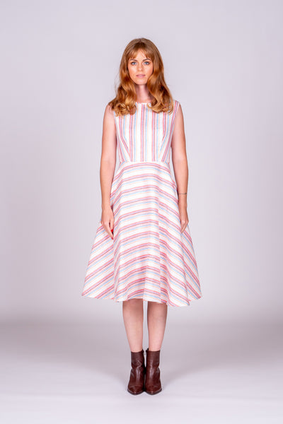 Sienna Dress - Colourful Stripe