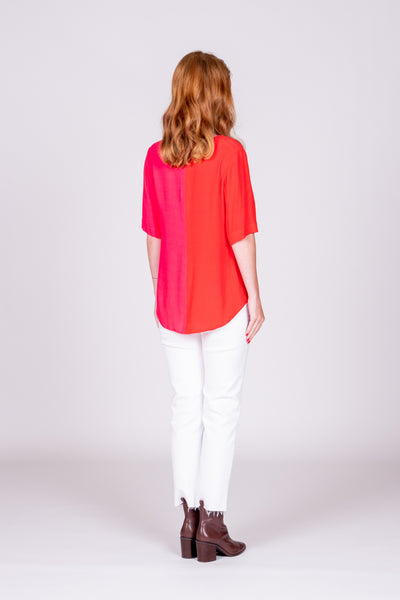 Hazel Top - Pink/Red
