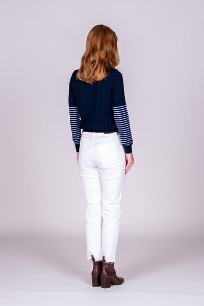 Stripe Jumper - Navy/Lilac
