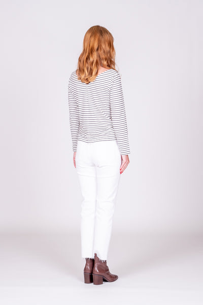 Alisa Top - Navy Stripe