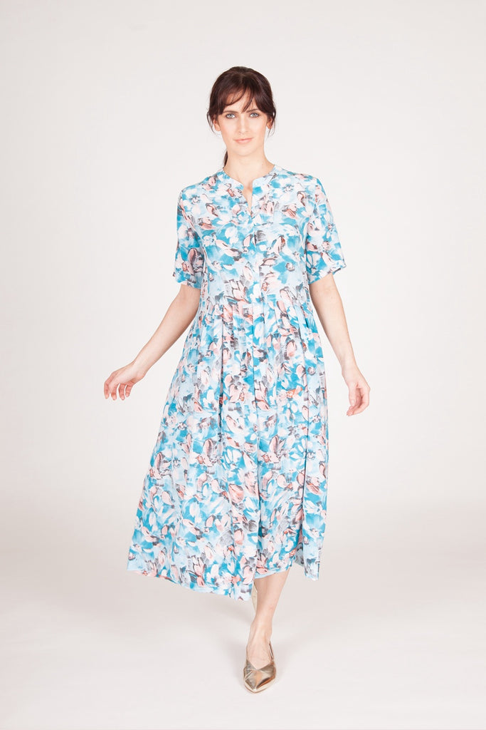 Ninette Dress - Turquoise/Pink