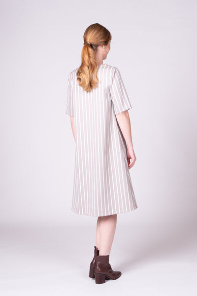 Como Dress - Sand Stripe