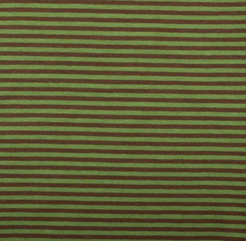 Swafing GITTA Olive / Tan 3mm Yarn Dyed Stripes 50cm x 160cm