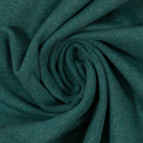 Swafing- Marled Smooth Ribbing -  Dark Green- sold per 10cm x 95cm