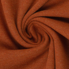 Swafing- Marled Smooth Ribbing -  Terracotta- sold per 10cm x 95cm