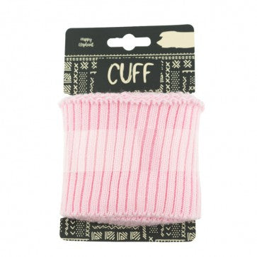 Happy Elephant Uni cuff Rib - Pink- 110cm x 7cm wide