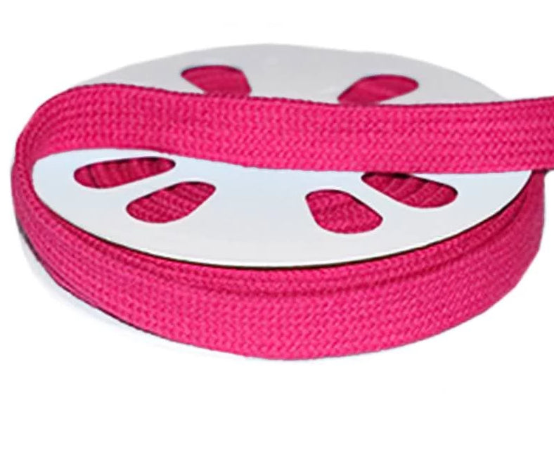 "Euro Flat Cotton Cord 12mm sold per m - "" Hoodie and Jogger Cord"" Hot Pink"