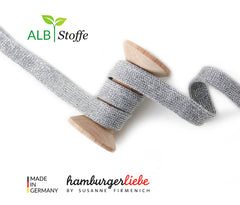 Hamburger Liebe- CUFF ME- COZY Col #31 Metal Grey  7cm wide roll- 1.1m long